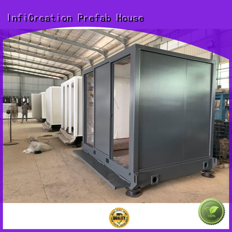 InfiCreation modern premade container homes supplier for booth