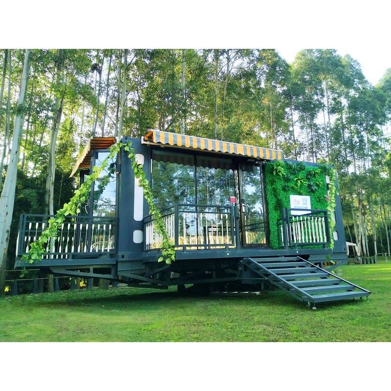 Container revolving house