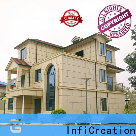 InfiCreation economical prefabricated cottages custom for hotel