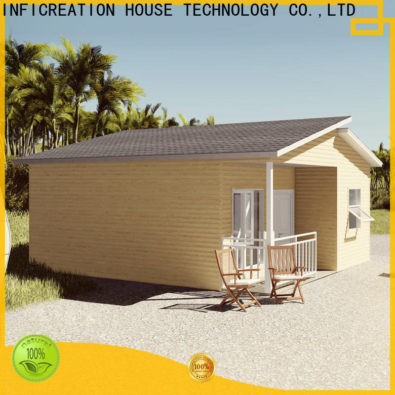 InfiCreation comfortable prefab cottage homes custom for hotel