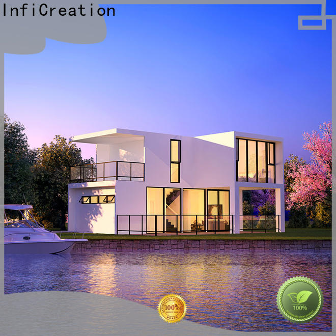 InfiCreation economical pre built houses manufacturer for resorts