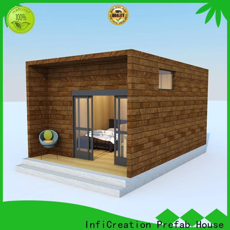 InfiCreation beautiful pre fabricated cottages custom for accommodation