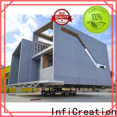 comfortable prefabricated cottages designer for entertainment centers
