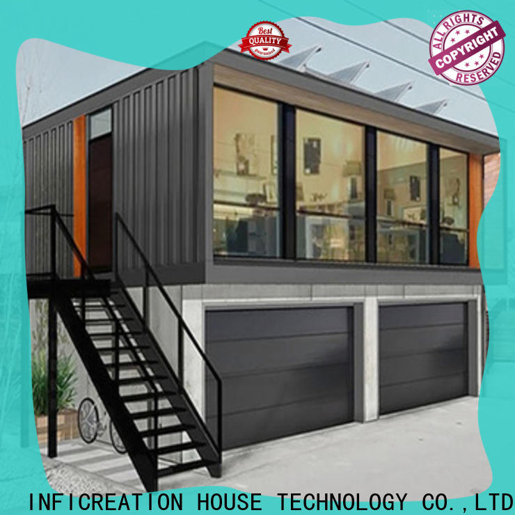 InfiCreation steel cargo container homes manufacturer for carport