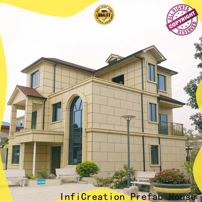 InfiCreation prefab cottage homes factory price for entertainment centers