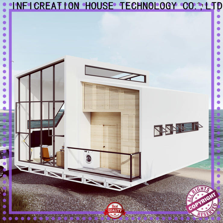 InfiCreation economical prefab modular homes factory price for resorts