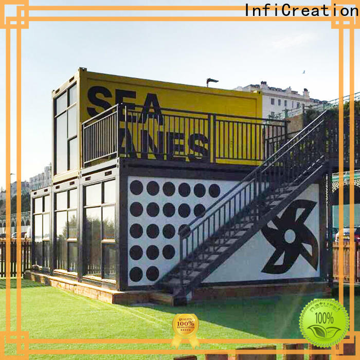 InfiCreation prefab container homes manufacturer for booth