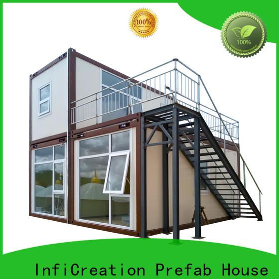 low cost pre built container homes directly sale for carport