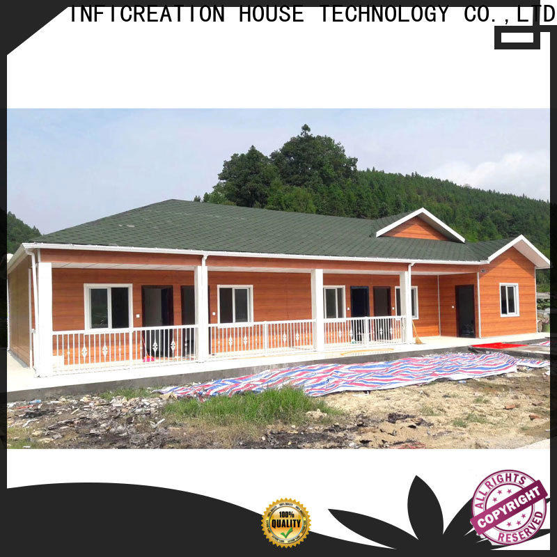 InfiCreation best pre manufactured homes supply for booth