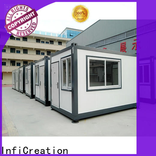 InfiCreation freight container homes customized for booth