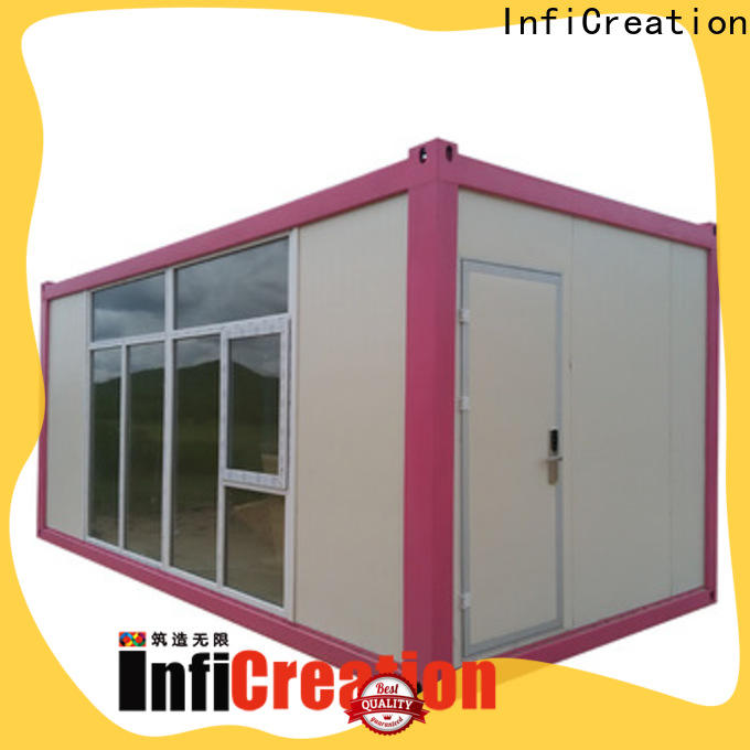 InfiCreation recyclable freight container homes customized for booth