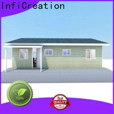 InfiCreation steel pre manufactured cottages factory price for resorts
