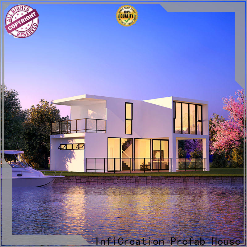 steel luxury prefab homes factory price for resorts
