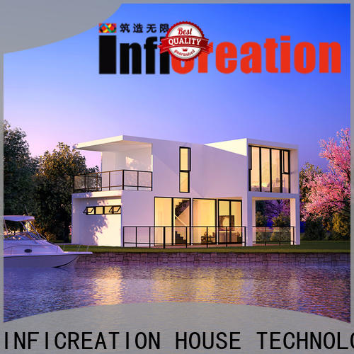 InfiCreation economical prefabricated cottages custom for accommodation