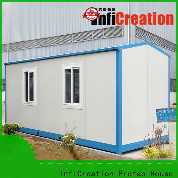 InfiCreation freight container homes factory for booth