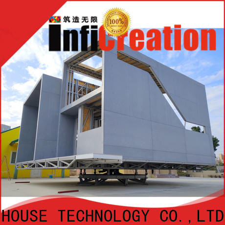 InfiCreation comfortable pre manufactured homes designer for entertainment centers
