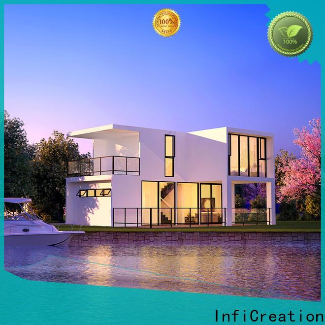 economical pre manufactured cottages manufacturer for hotel