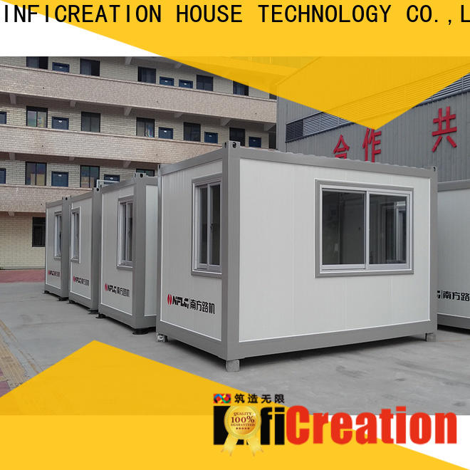 InfiCreation tiny pre built container homes supplier for booth