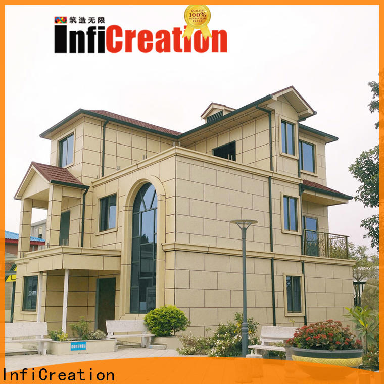 InfiCreation steel prefab modular homes manufacturer for hotel