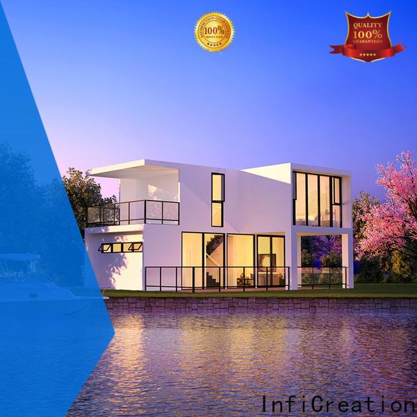 InfiCreation prefabricated luxury villas designer for entertainment centers