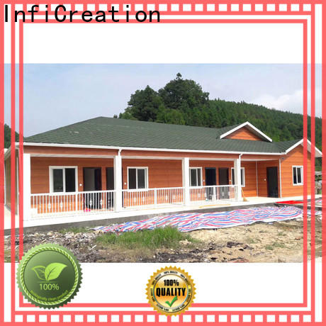 InfiCreation pre manufactured homes company for booth