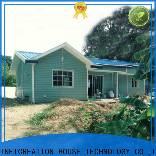 InfiCreation portable pre fabricated cottages designer for resorts