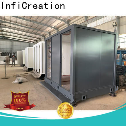 InfiCreation storage container houses customized for booth