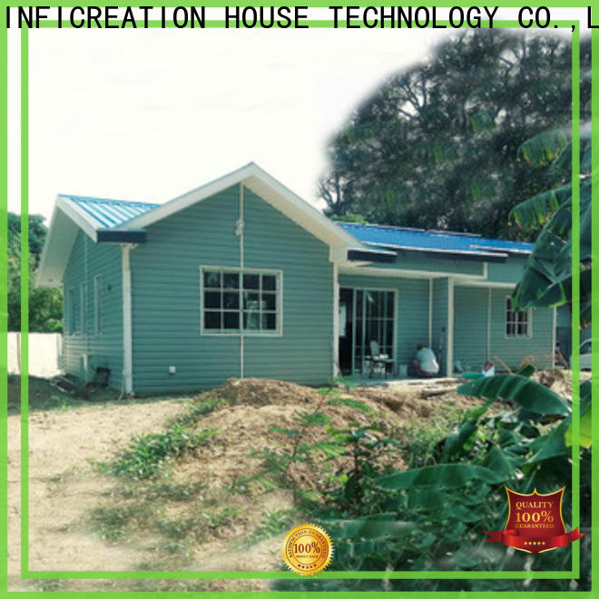 InfiCreation portable prefabricated cottages designer for accommodation