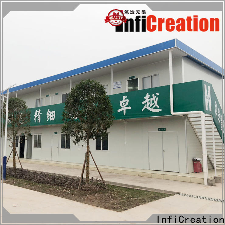 InfiCreation low cost cargo container house manufacturer for booth