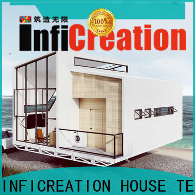comfortable pre manufactured cottages factory price for resorts