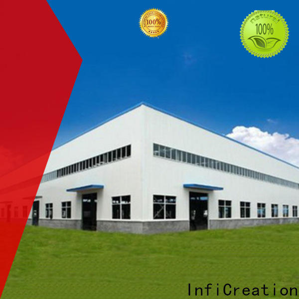 InfiCreation modern prefab steel warehouse customized for company