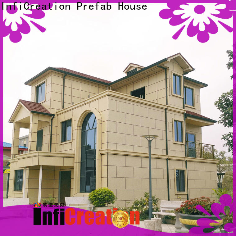 InfiCreation prefabricated cottages manufacturer for entertainment centers