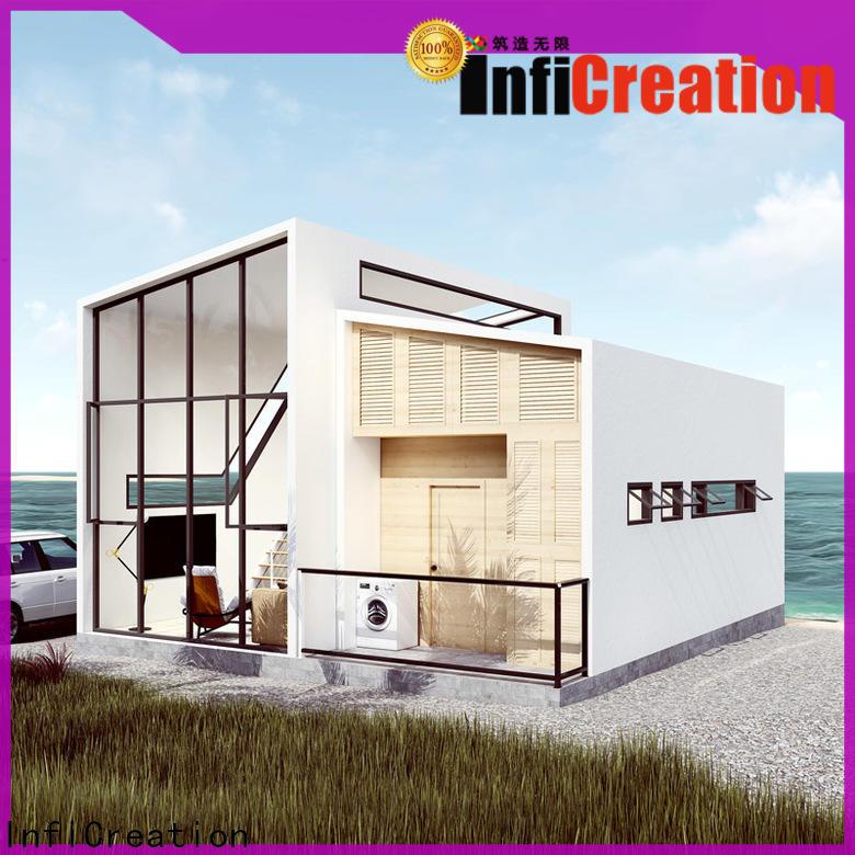 steel modular beach cottages manufacturer for hotel