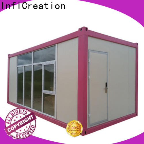 InfiCreation steel cargo container homes supplier for booth