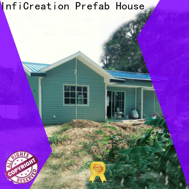 InfiCreation prefab cottage homes custom for resorts