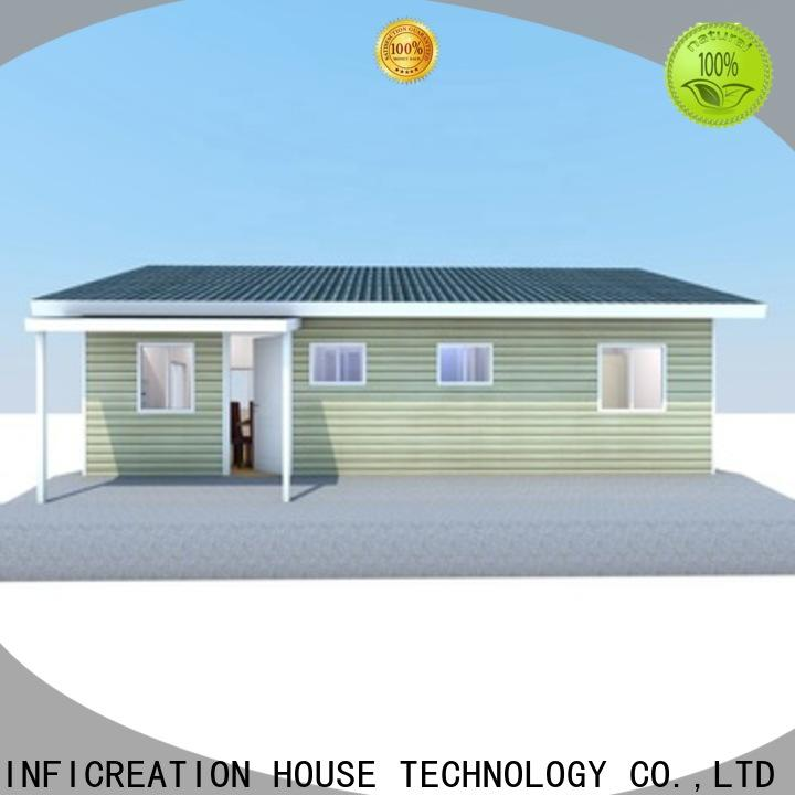 InfiCreation beautiful pre fabricated cottages factory price for accommodation