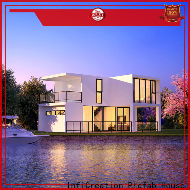 InfiCreation modular cottages manufacturer for entertainment centers