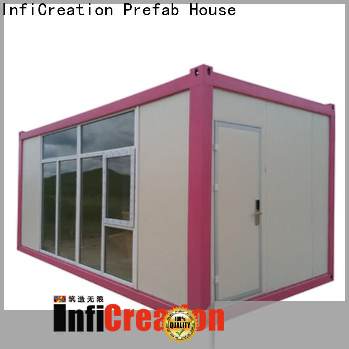 InfiCreation recyclable freight container homes manufacturer for booth