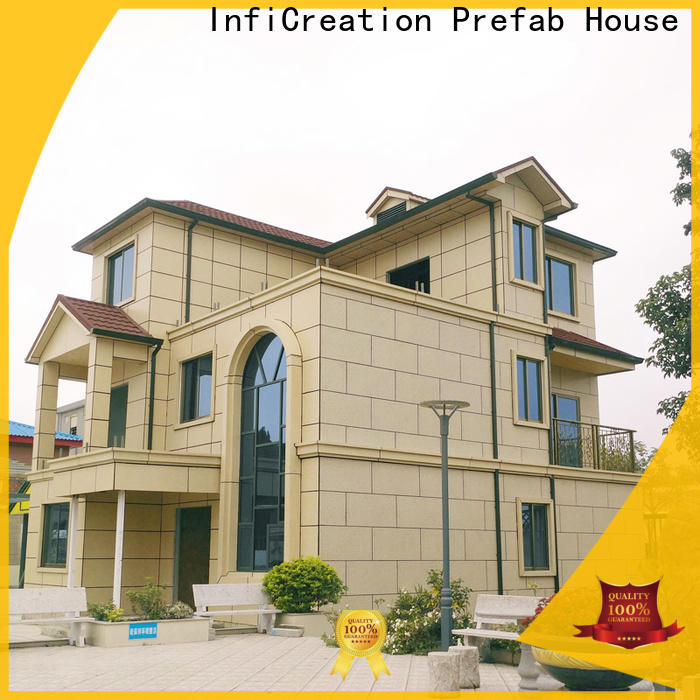 InfiCreation economical pre fabricated cottages custom for resorts