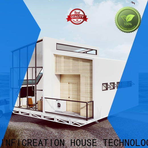 InfiCreation pre manufactured houses manufacturer for entertainment centers