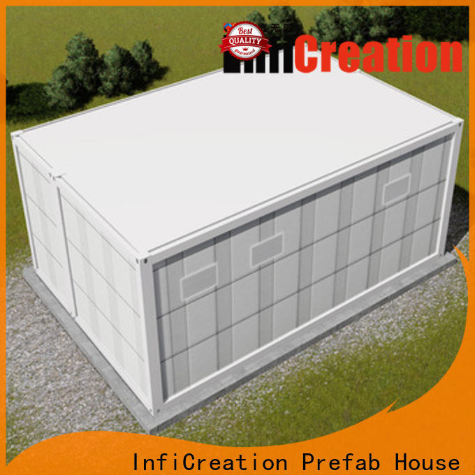 InfiCreation durable storage container homes customized for carport