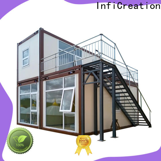 InfiCreation recyclable prefab storage container homes directly sale for booth