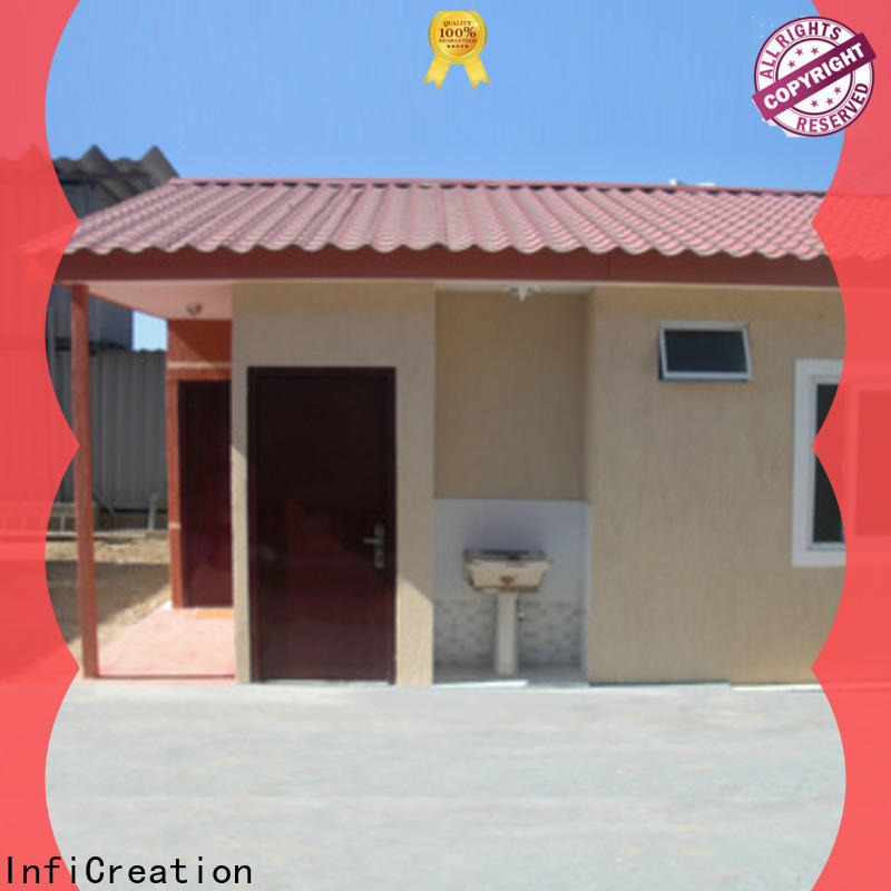 InfiCreation recyclable pre built container homes factory price for toilet