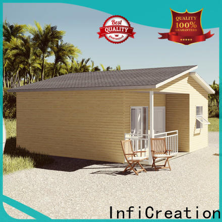 comfortable pre fabricated cottages designer for accommodation