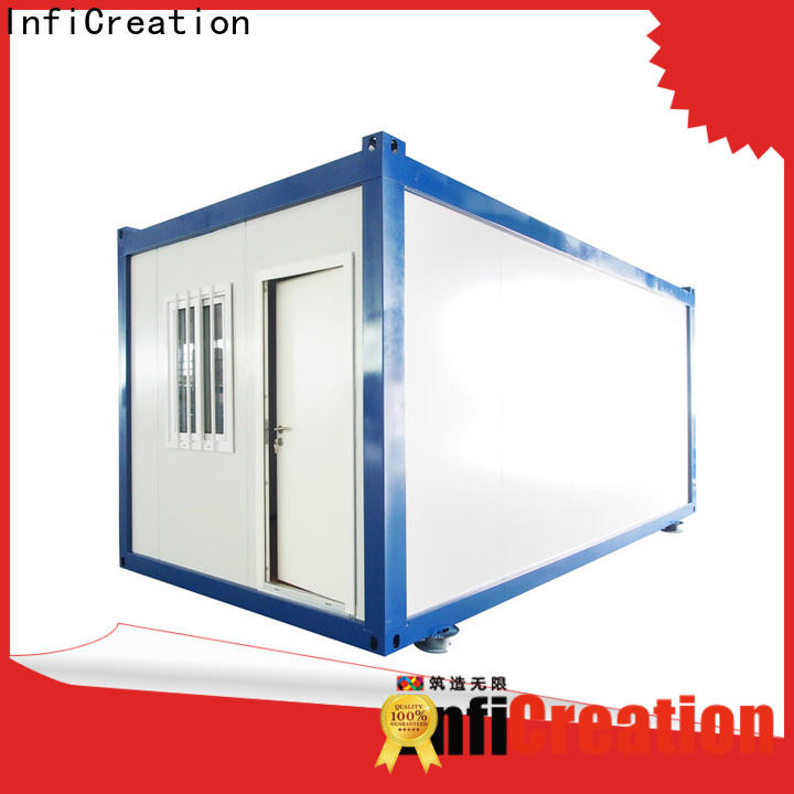 InfiCreation freight container homes manufacturer for booth