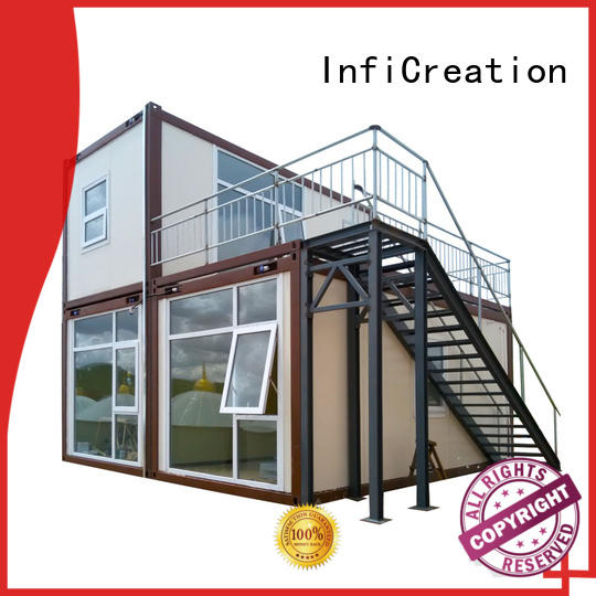 cold formed modern container homes completed welding for accommodation InfiCreation
