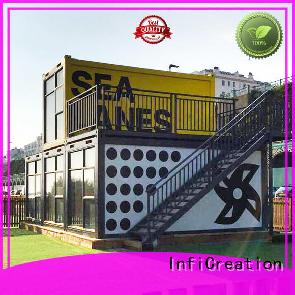 pre built container homes manufacturer for carport InfiCreation