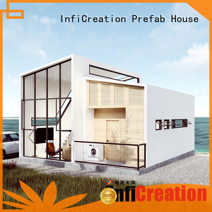 InfiCreation steel pre manufactured homes custom for entertainment centers