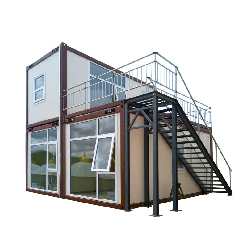 Flat Modern Container House-iC