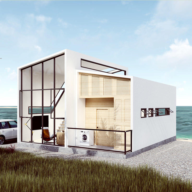 China Cheap Beach Steel Villa Casas Prefabricated Houses